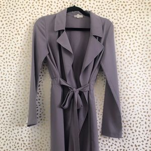 Trench Length Purple Duster